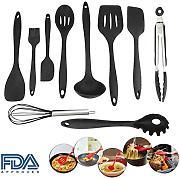10 pezzi set di utensili da cucina in silicone resistente al calore antiaderente accessori cucina con