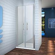 115x195cm box doccia porta battente nicchia bagno cristallo temperato 6mm trasparente