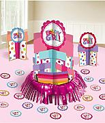 "Amscan International Micro Zone - Kit di decorazioni da tavolo per feste di compleanno, con motivo ""Birthday Girl"""