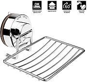 annstory porta sapone in acciaio inox a ventosa da doccia bagno e accessori