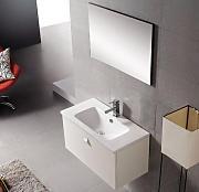 bathkitchens mobile da bagno lavabo e specchio modello california 80 senza morsetto