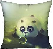Bigkin Blow Bubbles panda divano cuscini 45,7 x 45,7 cm contiene interno Home Decor cuscino