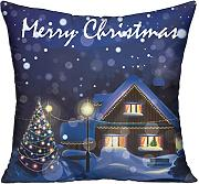 Bigkin Merry Christmas Snow divano cuscini 45,7 x 45,7 cm contiene interno Home Decor cuscino