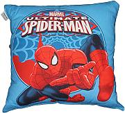 Produktbild: by PERLARARA - CUSCINO ARREDO cm 50 x 50 CAMERETTA ORIGINALE SPIDERMAN NOVIA by MARVEL AVENGERS CIVIL WAR (CELESTE)