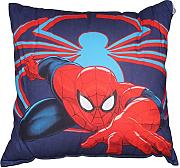 Produktbild: by PERLARARA - CUSCINO ARREDO cm 50 x 50 CAMERETTA ORIGINALE SPIDERMAN NOVIA by MARVEL AVENGERS CIVIL WAR (BLU/ROSSO)