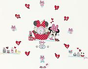 Produktbild: Disney Minnie Mouse Tell the Time with Me Orologio da Parete Adesivo, Rosa