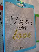 ELISS - TAGLIERE PP MAKE WITH LOVE CELESTE 35X25 CM