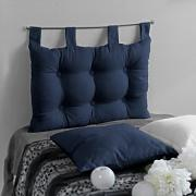 Enjoy Home, Testiera letto a cuscino, in cotone, 70 x 45 cm, Blu