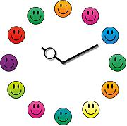 Produktbild: Eurographics Time Art - Orologio da parete, motivo: , 30 x 30 cm, Smiley Clock, 30 x 30 cm