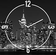 Produktbild: Eurographics U-BA4037 Time Art - New York orologio da parete 30 x 30 cm