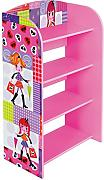 Fashion Girl Liberty House Toys-Libreria a 4 ripiani, in legno, colore: multicolore