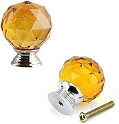 fbshop (TM) 30 mm Cristallo di Vetro 2pcs Magic Ball, a forma di diamanti Pomello Maniglia Cucina fai da te decorativi per la casa