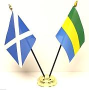 Gabon & Scotland-Bandiera dell'amicizia da tavolo, Set di Base