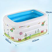 global 105 143 75cm vasca da bagno pieghevole per bambini piscina gonfiabile del