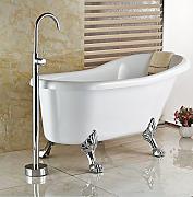 gowe chorme smalto per pavimento per vasca da bagno con miscelatore e doccetta
