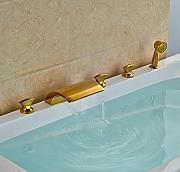 gowe golden smalto per vasca da bagno con bocca di erogazione orientabile confezione da