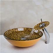 gowe lavabo con vetro temperato di lusso dipinta a mano portascopino da bagno sanlingo per