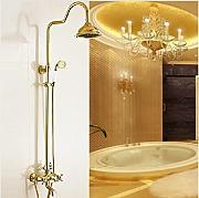 gowe luxury gold smalto per vasca da bagno con soffione doccia 2032 cm