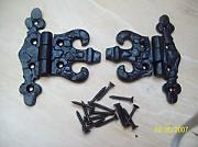 Ironmongery World Black Antique Iron Unequal Fancy Butterfly Hinges by Ironmongery World