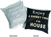 "Produktbild: Lovely Home - Fodera Arredo ""Enjoy"" Sweet Home Cm 42X42 - Federa Cuscino Con Zip"