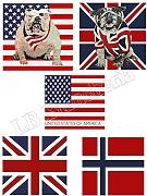 "Produktbild: Lovely Home - Fodera Arredo ""Flag"" Bandiere Cm 40X40 - Federa Cuscino Con Zip, BANDIERA UK"