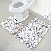 mcc 2 pezzo stampato set di tappeti bagno tappeto bagno wc tappeto