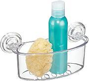 mdesign mensola doccia con ventosa mensola bagno per doccia o vasca senza forare il muro