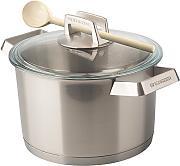 mehrzer 200004 pentola 1810 con coperchio in acciaio inox adatta per cottura