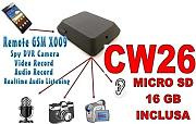 MICROSPIA GSM X009 SPIA AUDIO VIDEO INTERCETTAZIONE AMBIENTALE CIMICE + SD16GB CW26