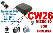 MICROSPIA GSM X009 SPIA AUDIO VIDEO INTERCETTAZIONE AMBIENTALE CIMICE + SD8GB CW26
