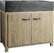 mobile basso da cucina in legno riciclato con lavello l 90 cm copenhague