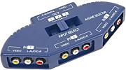 Omnialaser OL-SWITCH3 Commutatore Audio Video Switch Av, Blu