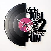 Orologio in vinile / vinyl clock DISCOCLOCK - DOL002 - GIRLS JUST WANT 2 HAVE FUN