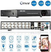 OWSOO 16CH 1080N AHD TVI DVR HVR NVR HDMI P2P Nube Rete Onvif Digitale Video Recorder Supporto Plug and Play Android/iOS APP Gratuito CMS Browser Vista Rivelazione di Movimento Email Allarme PTZ