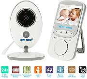 OWSOO 2,4GHz 2,4 Pollici Wireless LCD Baby Monitor + IR Camera Supporto 2 vie Audio Visione Notturna VOX Mode Built-in Lullabies Batteria Ricaricabile per Sorveglianza Domestica del CCTV Sicurezza
