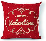 Personalised be My San Valentino regalo decorativo Cuscino 45,7 x 45,7 cm (due lati)