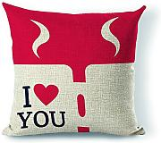 Personalizzato i Love you San Valentino regalo decorativo Cuscino 45,7 x 45,7 cm (due lati)