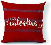 Personalizzato Stripe be My San Valentino regalo decorativo Cuscino 45,7 x 45,7 cm (due lati)