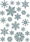 PLAGE 150404 Electrostatic Sticker for Christmas Flake silver, plastica, Colorful, 29,7 x 0,1 x 21 cm