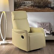 Poltrona Relax Maria Manuale Reclinabile In Similpelle Colore Beige Stones