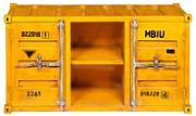 Produktbild: Porta-TV giallo in metallo a forma di container L 129 cm Carlingue