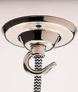 rosone lampadario : ROSONE DA LAMPADARIO con gancio argento placcato Rosone da soffitto ...