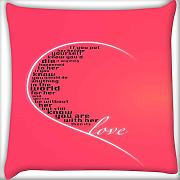 San Valentino Girly Love Home Decor gettare divano auto cuscino federa 45,7 x 45,7 cm
