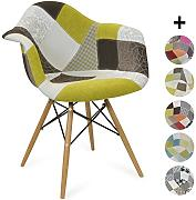 Produktbild: Sedia DAW Style Patchwork - Ground - Stile Scandinavo - 62.5 cm x 63 cm x 81 cm - ZOLOFORNITURE