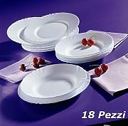 Servizio piatti arcopal confronta prezzi e offerte - Servizio piatti da tavola in arcopal pz 18 prometeo ...