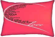 Snoogg San Valentino Girly Love Rectangle Toss cuscino Decoarative della federa 40,6 x 61 cm