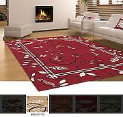tappeto moderno in ciniglia camera cucina ingresso mod vintage biscotto 140x195