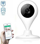 Produktbild: Telecamera di sicurezza wireless, Wi-Fi Video domestico del bambino Monitor HD 720p a distanza sorveglianza domestica dell'interno telecamere IP con 2 vie audio per iPhone iPad Android Samsung Sony LG Huawei Bianco