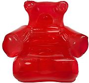 Produktbild: Thumbs Up! INFGUMCHR Poltrona Gonfiabile Gummy Bear Chair, PVC, rosso