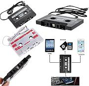 Produktbild: Universal Adattatore cassette AUX per musica Audio Radio Stereo cavo Audio 3,5 mm Jack MP3 MP4 Smartphone Tablet DAT lettore, lettore MiniDisc, CD MP3 Laser Laser Adapter